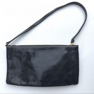 Kate Spade Black wristlet Bag leather zip purse